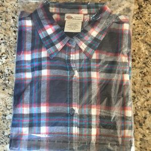 Dickies Women's Long-sleeved Flannel Shirt - NWT